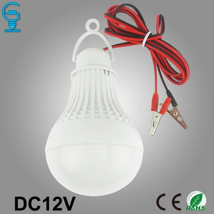 Clip-On LED Bulbs 12V DC LED Lamp 6000K SMD 5730 Home Camping Hunting Emergency Outdoor Light lamparas (Cool White)5WOther Connector Bulbs<br>DescriptionItem Type: LED BulbsCertification: CE,RoHSLed Bulb Type: Bubble Ball BulbShape: AnnularOccasion: BedroomLuminous Flux: 250 - 499 LumensNumber of LED Chip: otherBrand Name: GITEXLED Chip Brand: EpistarBeam Angle(°): 120°LED Chip Model: SMD5730Power Tolerance: 5%Color Temperature: Cool White(5500-7000K)Base Type: OtherLength: Other<br>
