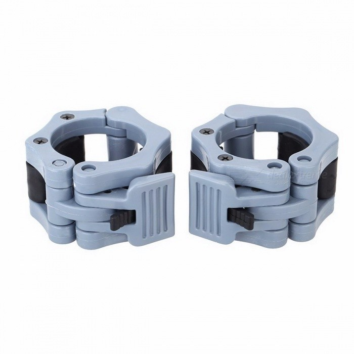 1 Pair Olympic 2 Spinlock Collars Barbell Collar Lock, Gym Dumbell Clips Clamp, Weight Lifting Bar Necklace for Body Building greyDescriptionType: Spray-PaintApplication: Dumbbell DiskDepartment Name: MenFunction: Body<br>