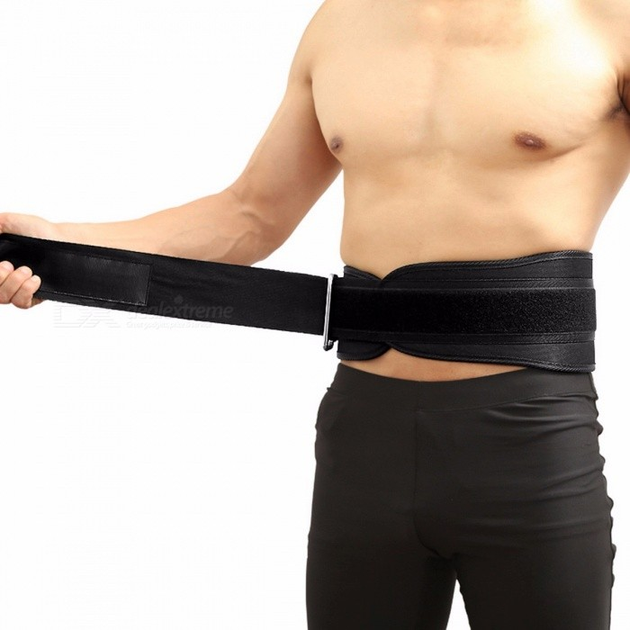 ALBREDA Adjustable Nylon Waist Belt Support Brace, Fitness Gym Weight Lifting Waist Supporter Protection for Sports Safety L/BlackWaist &amp; Abdomen Supports<br>DescriptionApplicable People: AdultBrand Name: ALBREDA<br>