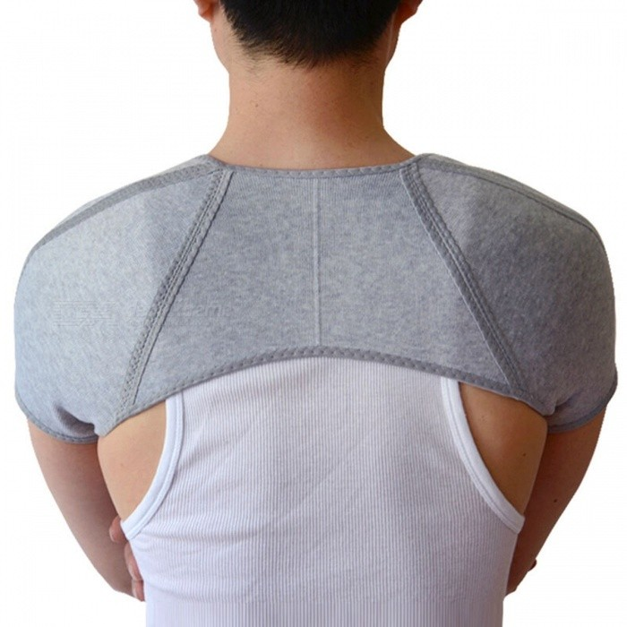 Cotton Back Support, Shoulder Posture Guard Retaining Straps Brace, Gym Sport Injury Guard Back Pad Belts for Men LShoulder &amp; Back &amp; Chest Supports<br>DescriptionBrand Name: AolikesAge: Adult<br>
