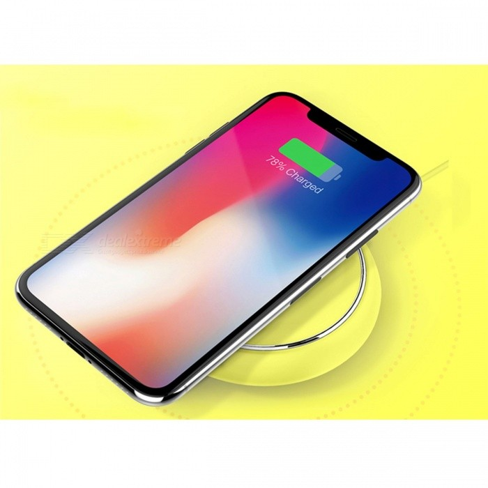 ROCK QI Wireless Charger, Fast Charging Pad, Smart USB Dock for IPHPNE X 10 8, Samsung Note 8 S8 Plus S7 S6 Edge Phones