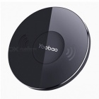 Yoobao YBD1 Portable Thin Wireless Charger, Fast Charging Pad for Iphone X 8 Samsung LG Nokia Moto HTC Sony Google  Black