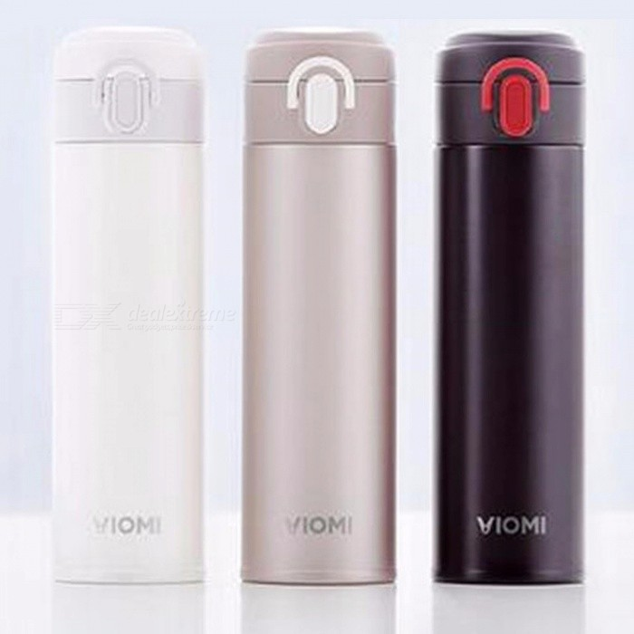Original Xiaomi VIOMI Stainless Steel Vacuum Thermos Cup, 24 Hours Flask Water Bottle, Supports Single Hand ON / Close