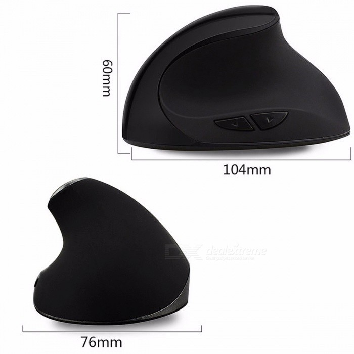 1600 DPI Ergonomic Vertical USB 2.4GHz Wireless Computer Mouse, Cordless Optical Gaming Mice for PC Laptop Gamer