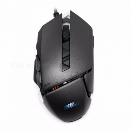 Professional 325RS USB Wired Laser Game Mice with 4 Adjustable 7200DPI, 7-Button Gaming Mouce for PC Laptop Desktop Gamer Gray
