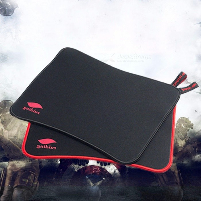 308*248*3mm Woven Mark Portable Game Mouse Pad Mousepad, Lock Edge Thickening Mouse Mat for Computer Laptop Gamer