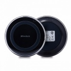 HAISSKY Mini Qi Wireless Charger, USB Charging Pad for IPHONE X 8 Plus Samsung Galaxy S8 Plus S6 S7 Edge Note 5 8 Elephone P9000 Wilress Charger/Black