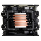 Pccooler x6 CPU Cooler, 5 Heatpipes Double 4Pin LED Quiet Cooling Radiator Fan for Intel 775 115x 2011 AMD AM3 FM2 AM4  White