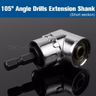105 Degree Angle Extension Right Driver Drilling Shank, Screwdriver Magnetic 1/4 Inch Hex Drill Bit Socket Holder Adaptor Sleeve A