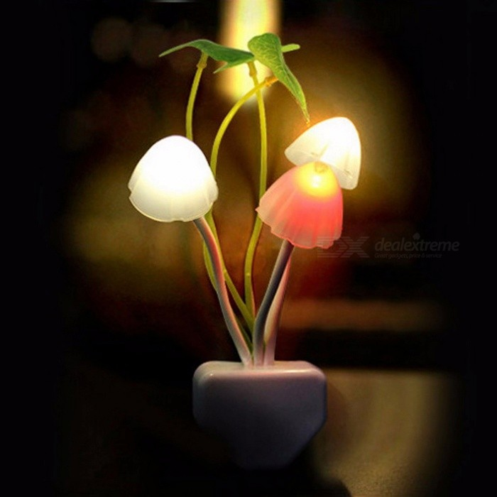 Novelty Fantastic Mushroom Fungus Night Light, Sensor Control 220V 3-LED Colorful Nightlight Wall Lamp EU PlugLED Nightlights<br>Description<br><br><br><br><br>Item Type: Night Lights <br><br><br>Is Batteries Required: No <br><br><br><br><br>Light Source: Fluorescent <br><br><br>Voltage: 220V <br><br><br><br><br>Certification: CE,CCC <br><br><br>Battery Type: Lithium Metal <br><br><br><br><br>Power Source: AC <br><br><br>Usage: Emergency <br><br><br><br><br>Shape: Mushroom <br><br><br>Is Batteries Included: No <br><br><br><br><br>Type: Atmosphere <br><br><br>Wattage: 0-5W <br><br><br><br><br>Is Bulbs Included: Yes <br><br><br>Body Material: Plastic <br><br><br><br><br>Power Generation: Always On <br><br><br>Brand Name: ZINUO <br><br><br><br><br><br><br><br><br><br><br><br>Specifications: <br><br><br>Plug : US &amp;amp; EU <br><br><br>Light type: LED <br><br><br>Pot: White <br><br><br>Mushroom: White <br><br><br>Leaf: Green <br><br><br>Material:ABS&amp;amp;Silica gel <br><br><br>Grass: PP (Propene Polymer) <br><br><br>Mushroom: Silicon <br><br><br>Leaf: Plastic <br><br><br>weight : 40 g <br><br><br>size : 45mmX135mm <br><br><br>&amp;nbsp;<br><br><br>Package &amp;nbsp;Included : <br><br><br>1 x New Fantastic Mushroom Light Sense Control Led Night Wall Lamp&amp;nbsp; <br><br><br>&amp;nbsp;<br><br><br>&amp;nbsp;<br><br><br>Youll<br> fall in love with this Mushroom Lamp. Some cute mushrooms, a few fresh <br>leaves, a lovely little flower, crispy green grass, and decent white <br>ceramic pot: wow, such a beautiful potted plant. Can you imagine it is a<br> LAMP? <br><br><br>Hottest Film as a creative source. <br><br><br>Mushrooms, leaves: like real ones. <br><br><br>The 3 cute mushrooms will light up with 3 colors: pink, yellow and purple. <br><br><br>Warm, soft and romantic lights glitter in darkness; leave the lights on for you and the ones you cared. <br><br><br>LED technology applied. <br><br><br>Extremely low power consumption (ONLY 0.2W). <br><br>Ideal desk lamp, dec