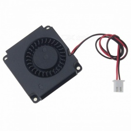 Gdstime Mini Portable Durable 40mmx40mmx10mm DC 5V Plastic Turbo Blower Cooling Cooler Fan for Computer Black