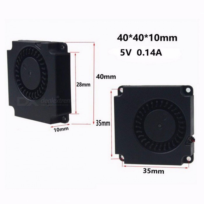 Gdstime Mini Portable Durable 40mmx40mmx10mm DC 5V Plastic Turbo Blower Cooling Cooler Fan for Computer