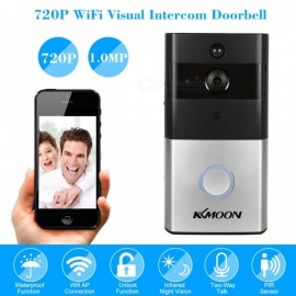 KKmoon HD 720P Video Door Phone Intercom Wifi Doorbell Home Security Night Vision Wireless Doorbell Doorphone APP Remote Control Without Battery