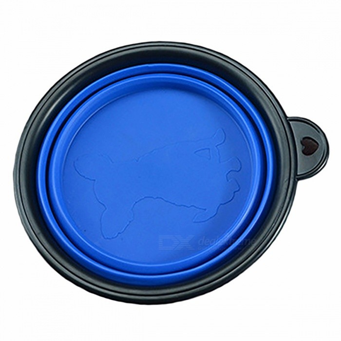 Collapsible Outdoor Travel Foldable Pet Silicone Bowl Candy Color Portable Puppy Doogie Food Container Feeder Dish BluePet Tableware<br>DescriptionItem Type: Travel BowlsBrand Name: GoldCisterApplicable Dog Breed: UniversalType: DogsMaterial: OtherVolume: Other<br>