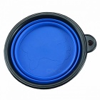 Collapsible Outdoor Travel Foldable Pet Silicone Bowl Candy Color Portable Puppy Doogie Food Container Feeder Dish Blue