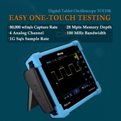 100MHz 4CH 28Mpts Digital Tablet Oscilloscope TO1104 Oscilloscopes Automotive Diagnostic Touchscreen Digital Oscilloscope TO1104 Optional 2