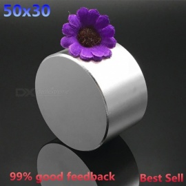 High Quality Multipurpose 50x30mm Round Cylindrical Shaped NdFeB Neodymium Magnet Strong Magnetic Material Magnet N38