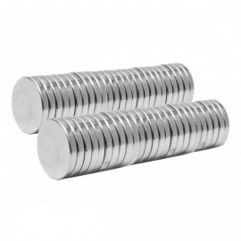 12mm x 2mm Rare Earth Neodymium Super Strong Magnets N50 Round Shaped Magnet Max Operating Temperature 80'C - 20PCS silver