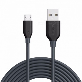 Anker PowerLine Micro USB Durable Charging Cable with Aramid Fiber and 10000+ Bend Lifespan for Samsung, LG and More Phones 1ft/Black