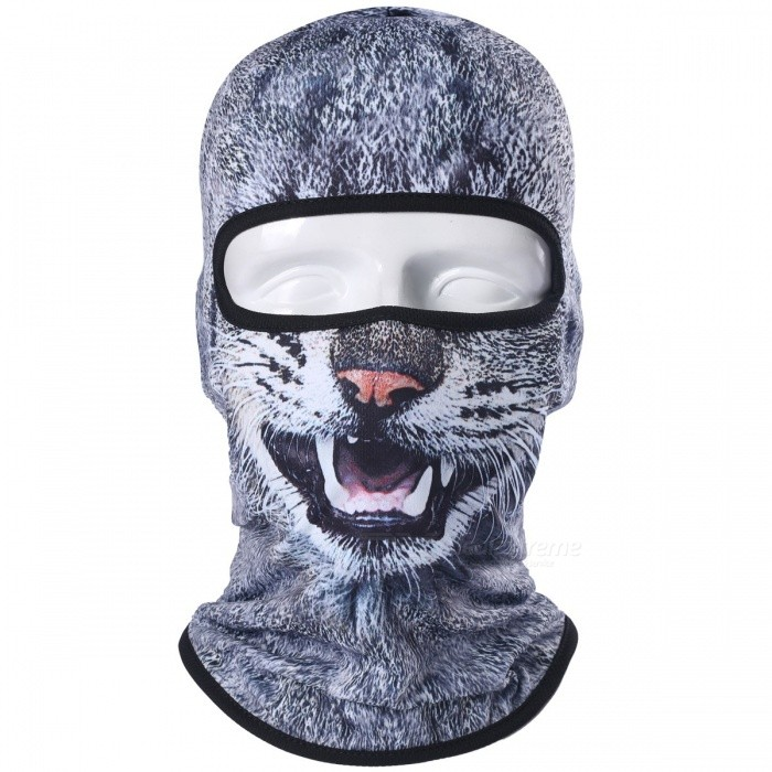 3D Animal Cat Dog Tiger Style Balaclava Bicycle Bike Hat Snowboard Party Halloween Helmet Liner Winter Warm Full Face Mask