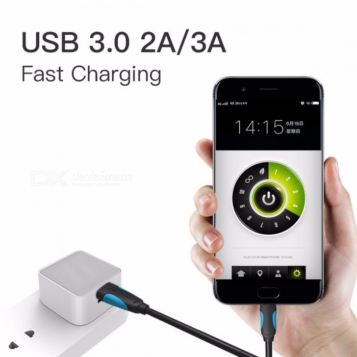 Vention USB Type-C Cable 3.1 Fast Charge Charging Data Cable USB 3.0 Type-C Cable for Samsung Huawei Honor ZUK LG Xiaomi