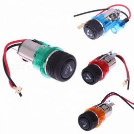 DIY Universal 12V 120W Motorcycle Car Boat Cigarette Lighter Power Socket High Quality for 12V Motorbike Boat green
