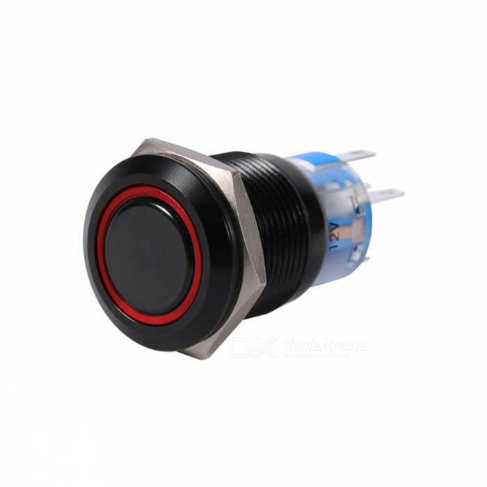 Dust and Waterproof Car Styling19mm 12V LED ON/OFF Car Waterproof Switch Self-locking Latch Push Button Flate Switch RedCar Switches<br>Description<br><br><br><br><br>Corolla-Year: 1993,1994,1998,1990,2008,2013,1995,1997,2009,2000,2007,1996,2015,2006,1992,2001,2004,2003,1991,2011,2002,2014,2005,2012,1999,2010<br><br><br>For Vehicle Brands/Model: Toyota<br><br><br><br><br>Brand Name: VGEBY<br><br><br>External Testing Certification: CCC<br><br><br><br><br>Item Type: Button Switch<br><br><br>Toyota Model: Corolla<br><br><br><br><br><br><br><br>Features:<br><br><br>1. Made of&amp;nbsp;zinc alloy and plating black&amp;nbsp;surface, strong and durable.<br><br><br>2. High-grade appearance and nice touch feeling.<br><br><br>3. Adopt rubber ring and hexagonal nut fixed,&amp;nbsp;anti dust and waterproof, which make it great for outdoors use.<br><br><br>4.&amp;nbsp;Copper plating silver terminals for good conductive properties.<br><br><br>5. Self-locking type, push it-- on, push it again--off.<br><br><br>6. Metal button head durable for longstanding press.<br><br><br>&amp;nbsp;<br><br><br>Specifications:<br><br><br>Material:&amp;nbsp;Zinc alloy and plating black&amp;nbsp;surface<br><br><br>Color: Black<br><br><br>Head Shape: Flat<br><br><br>Pin Number: 5 Pin<br><br><br>Emitting Type: Annular<br><br><br>Terminal Type: J Pin terminal<br><br><br>LED Color: Red, green, blue, white (optional)<br><br><br>Switch Voltage: 12V&amp;nbsp;<br><br><br>Contact Configuration: 1NO1NC<br><br><br>IP Rating: IP65, IK08<br><br><br>Screw Thread Width: 19mm / 0.75<br><br><br>Dimension: 2.1 x 3.9cm / 0.83 x 1.54<br><br><br>Package Weight: Approx. 13g<br><br><br>Operation Type: Self-locking type<br><br><br>&amp;nbsp;<br><br><br>Package Included:<br><br><br>1 x LED Button Switch<br>
