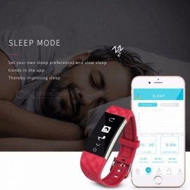 Luxury Smart Bluetooth Wrist Watch w/ Heart Rate Monitor, Sleep Tracker for Android IOS IPHONE Women Men  White