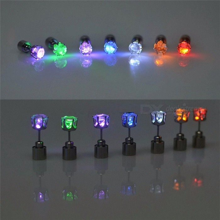 1 Pair Light Up LED Flashing Blinking Stainless Steel Earrings Studs, Dance Party Accessories Supplies for Woman Yellow LightLED Toys<br>Description<br><br><br><br><br>Style: Novelty<br><br><br>Certification: CE,RoHS,CCC<br><br><br><br><br>Battery Type: Button Cell<br><br><br>Is Batteries Required: Yes<br><br><br><br><br>Power Source: Dry Battery<br><br><br>Usage: Holiday<br><br><br><br><br>Is Batteries Included: Yes<br><br><br>Body Material: Stainless Steel<br><br><br><br><br>Light Source: LED Bulbs<br><br><br>Brand Name: Fding<br><br><br><br><br>Is Bulbs Included: Yes<br><br><br>Voltage: Other<br><br><br><br><br><br><br><br><br>Color: red/yellow/blue/green/purple/white/pink <br><br><br>Size: length 2.5cm <br><br><br>For: LED Party <br><br><br>Name: Stud Earrings <br><br><br>Dropshipping: Support Dropshipping <br><br><br><br>Features:<br><br><br>&amp;nbsp;<br><br><br>Earrings Main Stone Material: Crystal, Rhinestone<br><br><br>Size: length 2.5 CM, the diameter of the zircon for 7 mm<br><br><br>Battery: 2pcs LR521 battery for one ear ring (bttery included)<br><br><br>&amp;nbsp;<br><br><br>Suitable for Party, Party, Party, concert, bar, DJ, etc. Various kinds of places of entertainment.<br><br><br>The battery is very easy to change, have it make you truly unique<br><br><br>You can also mix the diffrent colors, please leave me the message.<br><br><br>&amp;nbsp;<br><br><br>1 Pair=1lot=2pcs, so if you order 1lot, we will send you 1 pairs.<br><br><br>&amp;nbsp;<br><br><br>Package: Blister packaging for one pair earings + 2pcs LR521 battery<br>