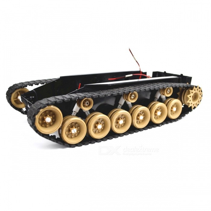 SINONING Shock Absorption Damping Balance Tank Robot Chassis Platform High Power Remote Control DIY Toy for Arduino GreenR/C Tanks<br>Description<br><br><br><br><br>Use: Vehicles &amp;amp; Remote Control Toys<br><br><br>Remote Control Peripherals/Devices: Starter<br><br><br><br><br>Upgrade Parts/Accessories: Frame<br><br><br>Brand Name: SINONING<br><br><br><br><br>For Vehicle Type: Tank<br><br><br>Four-wheel Drive Attributes: Assemblage<br><br><br><br><br>Tool Supplies: Battery<br><br><br>Plastic Type: PC<br><br><br><br><br>RC Parts &amp;amp; Accs: Engines<br><br><br>Material: Plastic<br><br><br><br><br><br><br><br><br><br><br><br>this product without battery. <br><br><br>&amp;nbsp;<br><br><br>Motor:260 <br><br><br>&amp;nbsp;<br><br><br>Votlage:3V-9V <br><br><br>&amp;nbsp;<br><br><br>Weight:550g <br><br><br>&amp;nbsp;<br><br><br>Track Width:2.3cm made of rubber <br><br><br>&amp;nbsp;<br><br><br>size:30cm*15cm*7.6cm <br><br><br>&amp;nbsp;<br><br><br>&amp;nbsp;<br><br><br>&amp;nbsp;<br><br><br>rubber track good on ground, strong road holding <br><br><br>&amp;nbsp;<br><br><br>good list: <br><br><br>1 tank chassis with track &amp;nbsp;same with the photo <br><br><br>&amp;nbsp; <br><br><br>this product &amp;nbsp;no battery.&amp;nbsp;<br>