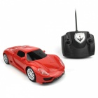 Mini Portable 2.4GHz Wireless 4CH Speed RC Radio Remote Control Micro Racing Car Toy Gift for Kids, Children Red
