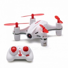 Hubsan H002 Mini 2.4G 4CH 6-Axis Headless Mode RC Quadcopter RTF Drone with 720P HD Camera, LED Light for Nano Q4  White Mode 2