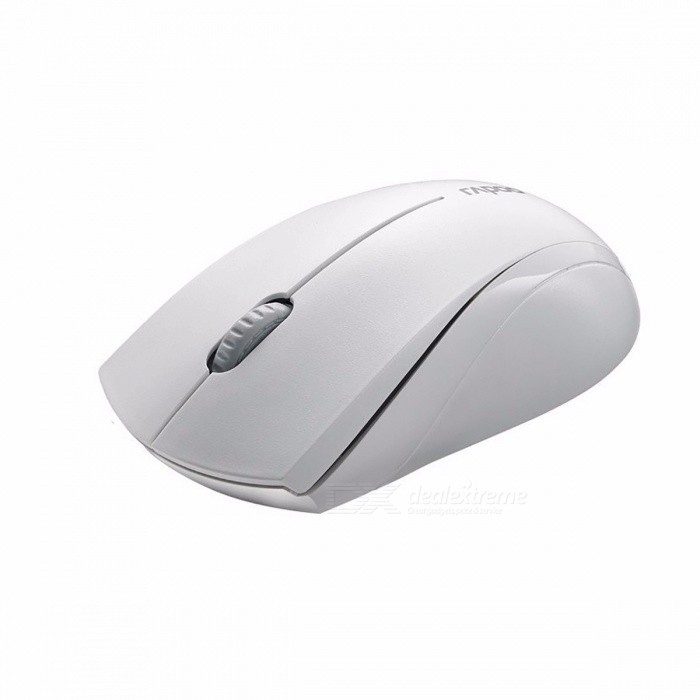 Rapoo 1650 2.4Ghz Wireless Optical Mouse with Silent Click, 1000 DPI Ergonomic Noiseless Mice for Mac PC Laptop Computer Game