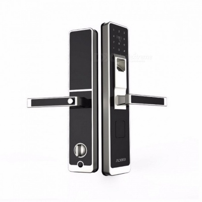 originale xiaomi mijia aqara smart door lock, digital touch screen keyless fingerprint + password lavoro a mi home controllo app phone left open