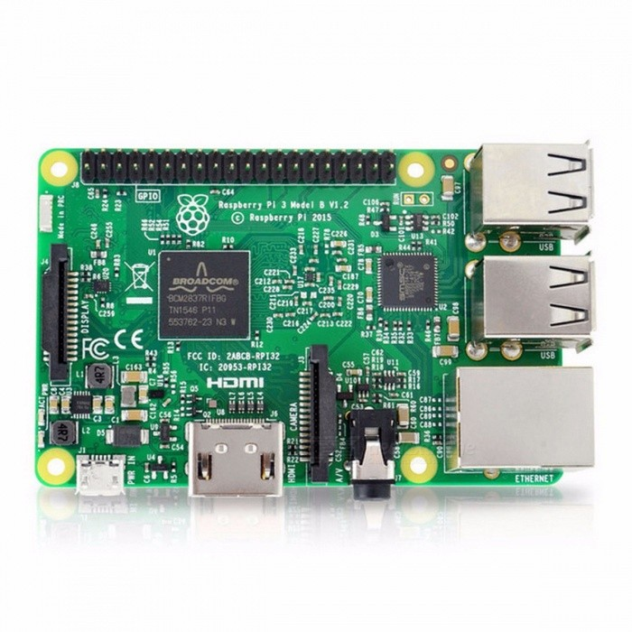 Element14 Version Raspberry Pi 3 Model B Board w/ 1GB LPDDR2 BCM2837 Quad-Core Ras PI3 B, PI 3B, PI 3 B with Wi-Fi &amp; Bluetooth Ras Pi 3Motherboards<br>Description<br><br><br><br><br>Memory Capacity: 1GB<br><br><br>Intergrated Feature: 10/100Mbps,Bluetooth,WiFi 802.11b/g/n<br><br><br><br><br>Interface: TF Card Support,HDMI/RCA Output,4 x USB2.0<br><br><br>Demo Board Type: ARM<br><br><br><br><br>Brand Name: bpi<br><br><br>Processor Brand: Broadcom<br><br><br><br><br>ROM Capacity: None<br><br><br><br><br><br><br><br><br><br><br><br>Raspberry Pi 3 Model B SBC <br>Original Raspberry Pi 3 Model B 1GB LPDDR2 BCM2837 64-bit Quad-Core 1.2 GHz with WiFi &amp;amp; Bluetooth<br><br><br><br><br><br><br><br>Raspberry Pi 3 Model B SBC <br><br><br>The Raspberry Pi 3 Model B looks identical to the Pi 2 B at first <br>glance. It is the same size and has much of the same components on <br>board. So what is the difference? The new Pi 3 brings more processing <br>power and on-board connectivity, saving you time with the development of<br> your applications. Perfect for your Internet of Things (IoT) designs.<br><br><br>&amp;nbsp;<br><br><br>Pi 3 compared to Pi 2 <br><br><br>&amp;nbsp;<br><br><br>More processor speed. The CPU on the Pi 3 is one and a half times faster at 1.2 GHz. Your Pi board performs better.<br><br><br>&amp;nbsp;<br><br><br>On-board connectivity. The Pi 3 features 802.11 b/g/n<br> Wireless LAN and Bluetooth Classic &amp;amp; Low Energy (BLE). You can get <br>connected much quicker without the need for any external device.<br><br><br>&amp;nbsp;<br><br><br>2.5 A power supply. With more processor speed and <br>on-board connectivity, youll need more power. Power supplies for <br>previous Pi boards will not be sufficient. You will need the Official <br>Raspberry Pi 3 Power Supply (9098126 — white) or (9098135 — black).<br><br><br>&amp;nbsp;<br><br><br>New components. The Pi 3 features a chip antenna <br>where status LEDs were located previously. The status LEDs are still