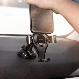 Baseus Universal Adjustable Suction Gravity Car Mount Mobile Phone Stand Holder for IPHONE X 8 5 6 7 Samsung Xiaomi Red