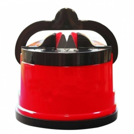 NUOTEN Portable Suction Knife Sharpener Sharpening Tool, Easy and Safe to Sharpens Kitchen Chef Knives Red