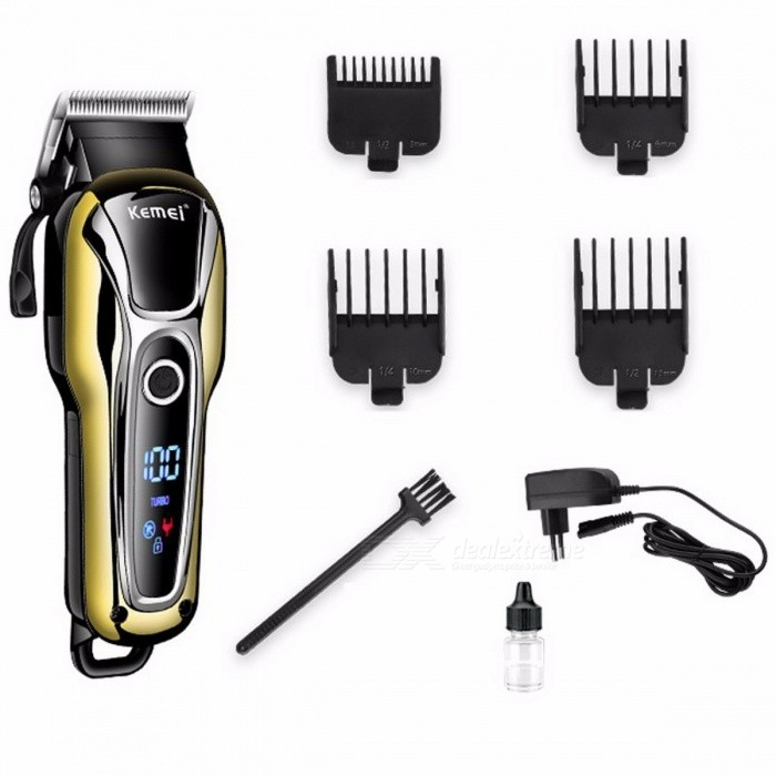 110V-240V Turbocharged Rechargeable Hair Clipper, Professional Hair Trimmer, Electric Hair Cutter Cutting