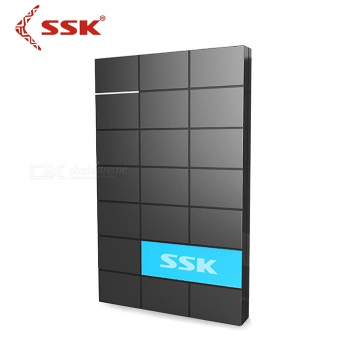 SSK SHE080 Premium Portable USB 3.0 HDD Enclosure, 2.5 Inch SATA Serial Port External Hard Disk Box HDD Case BlackHDD Enclosures &amp; Cases<br>Description<br><br><br><br><br>Case Material: Plastic<br><br><br>Internal Interface: SATA<br><br><br><br><br>Package: Yes<br><br><br>Size: 2.5<br><br><br><br><br>Brand Name: SSK<br><br><br>External Interface: USB<br><br><br><br><br><br><br><br><br>Power: ?12W <br><br><br>Transmission speed: 5GbpS <br><br><br>Operating humidity: 20%RH~80%RH <br><br><br>Product Size: 135(L) x 82(W) x 14(H)mm <br><br><br>Operating Temperature: 5degrees Celsius~35degrees Celsius <br><br><br>System Requirements: Windows ME/2000/XP/Vista/7/8 Linux2.4 Mac OS 9.1 or higher <br><br><br>Case Material: ABS Plastic Material <br><br><br>Support hard disk thickness / height:  9.5mm or 7.5mm Laptop HDD Enclosure <br><br><br>Note: HDD Enclosure (HDD is not included)<br>