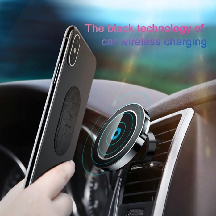 Baseus Car Mount Qi Wireless Charger for IPHONE X 8 Samsung Note 8 S8 S7, Fast Wireless Charging Magnetic Car Phone Holder Stand