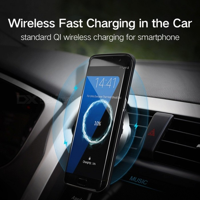 Ugreen 10W Qi Wireless Charger for Samsung Note 8 S8 S7 S6, Fast Wireless Charging Magnetic Car Air Mount Phone Holder Stand