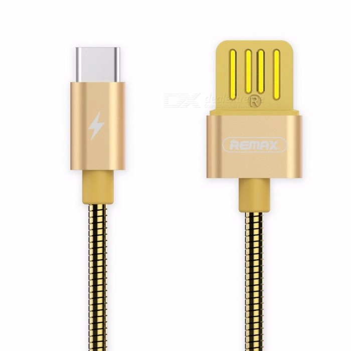 REMAX Metal Spring 2.1A Dual Side USB3.1 Type-C to USB Fast Charging Data Cable for Macbook / Xiaomi 4C / Samsung S8