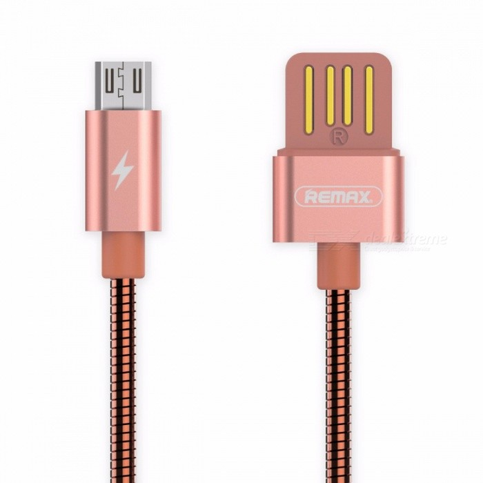 REMAX Spring Metal 2.1A Micro USB to USB Fast Charging Charger Cable, Data Sync Line for Xiaomi, Huawei, HTC