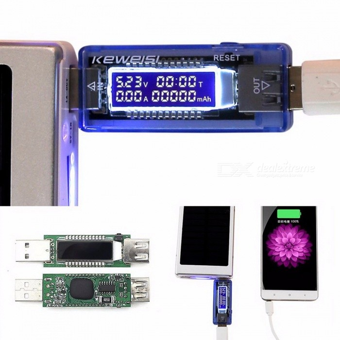3-in-1 USB Charger Doctor Battery Tester, Voltage Current Detector, Mobile Power Voltage Current Meter
