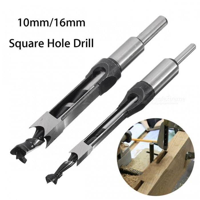 Mayitr Portable Premium Square Hole Mortiser Drill Bit, Mortising Chisel Woodworking Electric Drill Tool