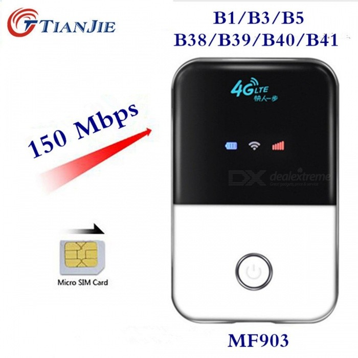 TIANJIE Mini 3G 4G LTE Wireless Wi-Fi Router, Portable Pocket-Size Mobile Hotspot Car Wi-Fi Router with SIM Card Slot
