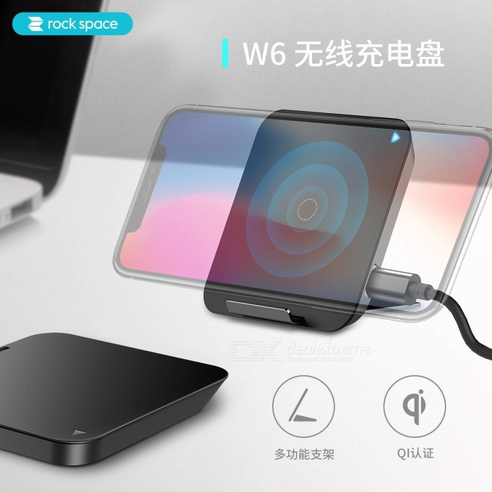 info for a765b 76aaa Rock W6 QI Wireless Charger Phone Stand, Fast Charging Pad for Samsung S8  Plus S6 S7 Edge for IPhone X 8 Huawei P10 Universal/black