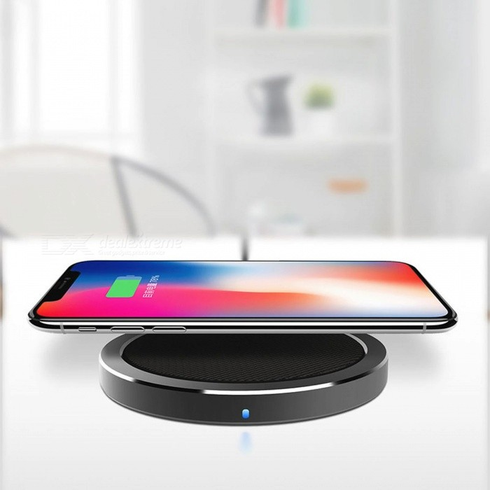 ROCK Fast Charging Qi Wireless Charger for IPHONE X 8 Plus, Samsung Galaxy Note 8 S8 S7 edge S6 Qi-Enabled Devices Universal/BlackWireless Chargers<br>Description<br><br><br><br><br>Quality Certification: FCC,CE,RoHS<br><br><br>USB Ports: 1<br><br><br><br><br>Type: Wireless Charger<br><br><br>Compatible Brand: LG,Nokia,Apple,Samsung<br><br><br><br><br>Output: 5V/1.5A<br><br><br>Brand Name: Rock<br><br><br><br><br>Input: 5V/2A<br><br><br>Power Source: A.C. Source<br><br><br><br><br>Output Interface: USB<br><br><br>Support Quick Charge Technology: No<br>