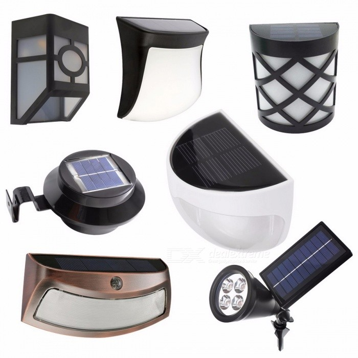 Solar Powered LED Garden Light Lamp Sensor Waterproof Outdoor Fence Wall Lamp Lighting Warm White Cold White Light Warm White/BlackWall Lights<br>Description<br><br><br><br><br>Power Source: Solar<br><br><br>Style: Contemporary<br><br><br><br><br>Base Type: None<br><br><br>Brand Name: MengJay<br><br><br><br><br>Solar Cell Type: Ni-MH<br><br><br>Certification: CE,RoHS,CCC<br><br><br><br><br>Voltage: 6V<br><br><br>Usage: Emergency<br><br><br><br><br>Is Dimmable: Yes<br><br><br>Body Material: ABS<br><br><br><br><br>Protection Level: IP55<br><br><br>Light Source: LED Bulbs<br><br><br><br><br>Is Bulbs Included: Yes<br><br><br><br><br><br><br><br><br><br><br><br>Product Name: Solar intelligent wall lamp<br>Solar panels: 2V 160mA crystalline silicon solar panels<br>Battery: 1.2V 1300mAh AA Ni-MH<br>Light source: 3pcs bright 10mm LED<br>Lumens: 60LM<br>Color temperature: warm white (3000-3500K); white light (6500-7000K)<br>Duration: 8-10H<br>Charging time: 6-8H<br>Function: light control, daytime solar panels on the battery charge, automatically light at night<br>Waterproof rating: IP44<br>Material: ABS + PC<br>Colour: Black<br>Size: 10.5 * 4 * 10CM<br>Switch: light control, pull-type switch<br>