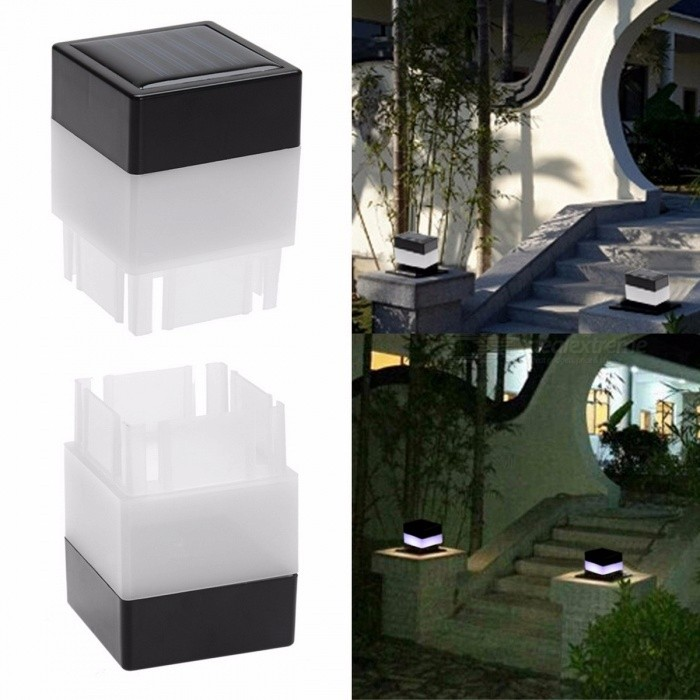 Solar Powered Fence LED Light Outdoor Garden Yard Pool Lamp Floodlights Waterproof  LED Square Light Landscape Lamp